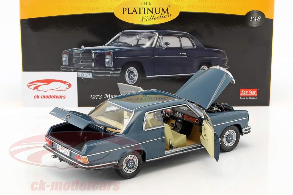 Mercedes-Benz Strich 8 coupe anno di costruzione 1973 scuro blu 1:18 Sun Star