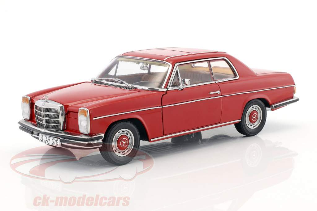 Mercedes-Benz Strich 8 coupe year 1973 red 1:18 Sun Star