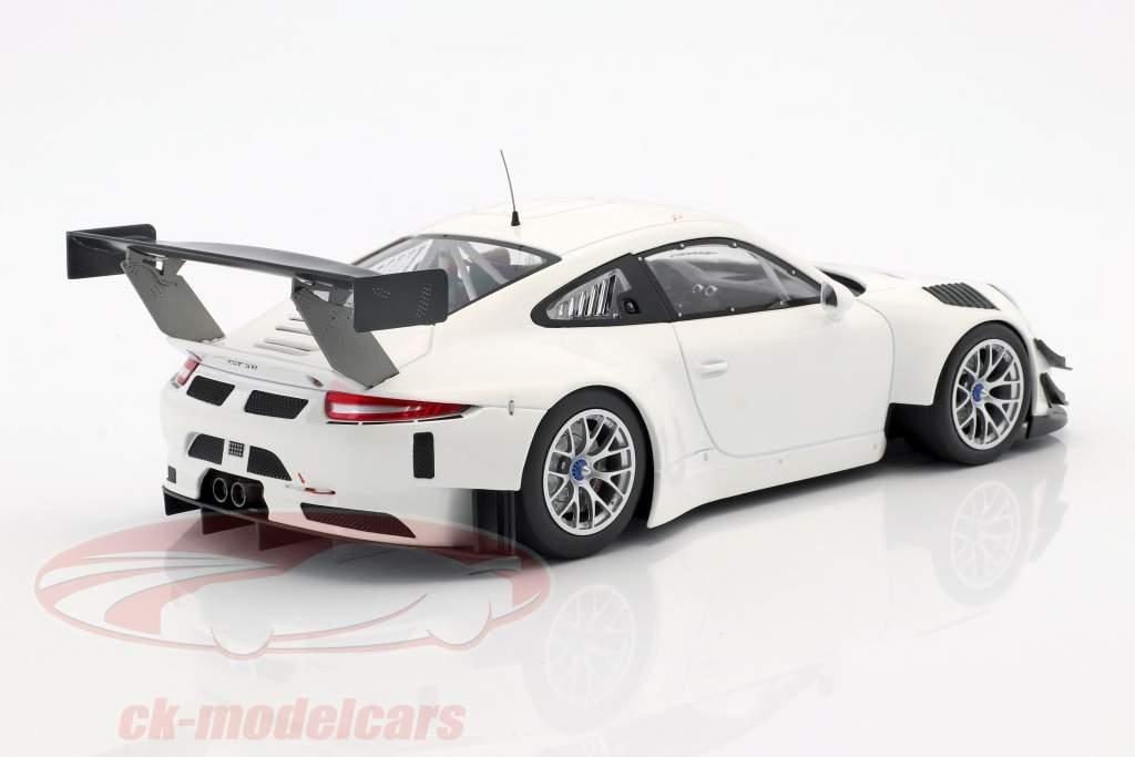 Porsche 911 (991) GT3 R Plain Body Version white 2016 1:18 Minichamps