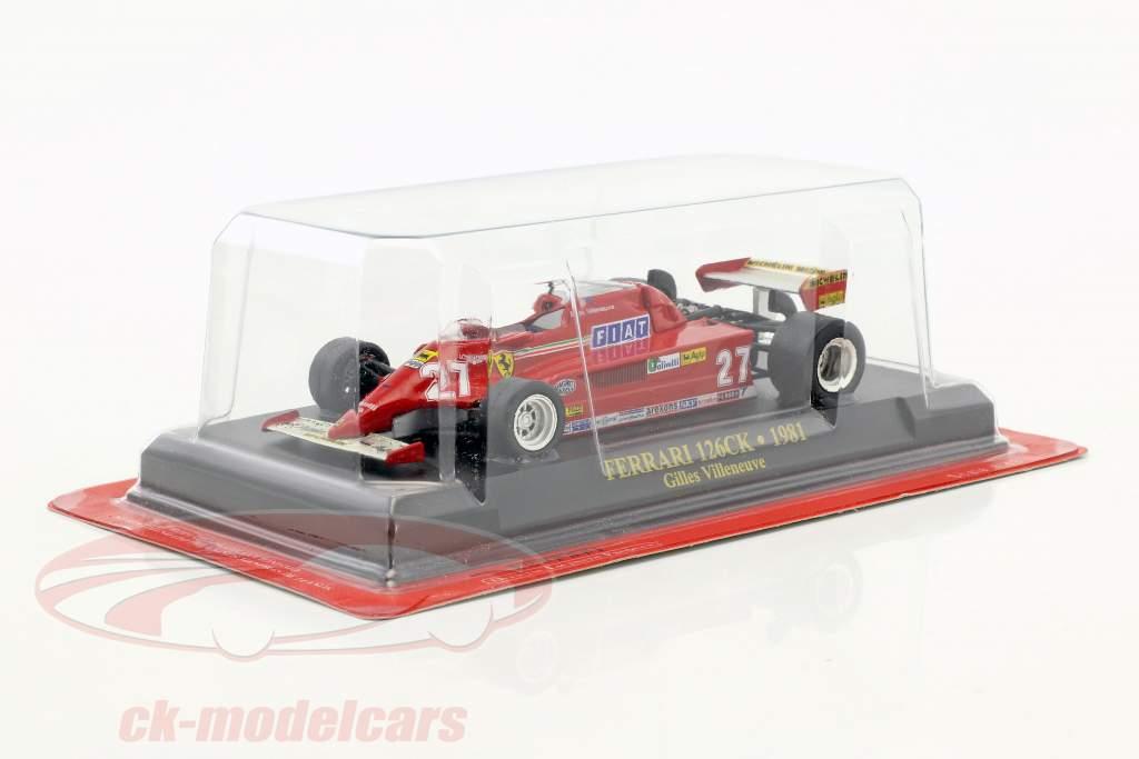 Gilles Villeneuve Ferrari 126CK #27 formula 1 1981 1:43 Ixo Altaya