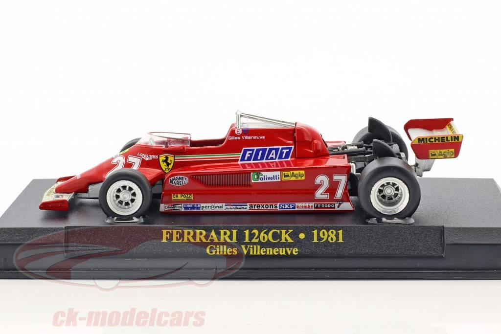 Gilles Villeneuve Ferrari 126CK #27 Formel 1 1981 1:43 Ixo Altaya