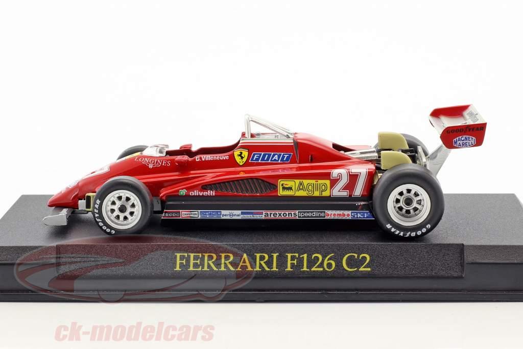 Gilles Villeneuve Ferrari F126 C2 #27 formule 1 1982 1:43 Altaya