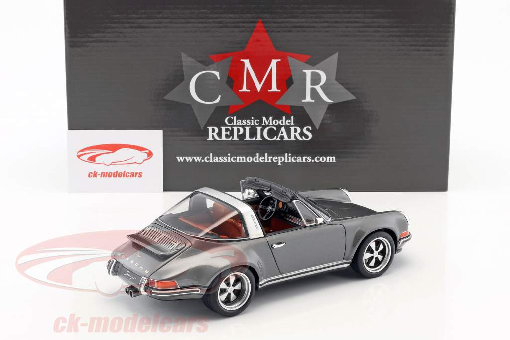 Singer Targa modification of a Porsche 911 gray 1:18 CMR