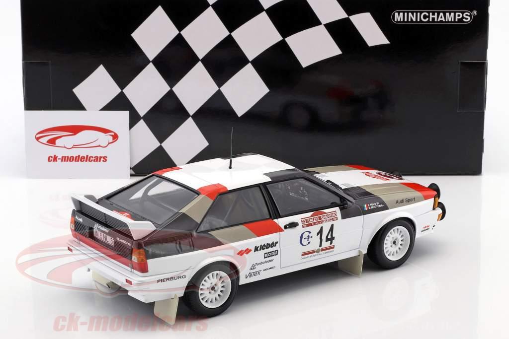 Audi Quattro #14 Winner Rallye SanRemo 1981 Mouton, Pons 1:18 Minichamps