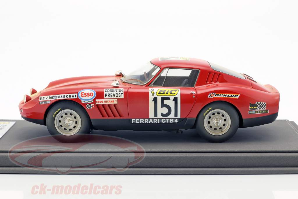 Ferrari 275 GTB/4 #151 Tour de France 1970 Dirty Version con vetrina 1:18 BBR