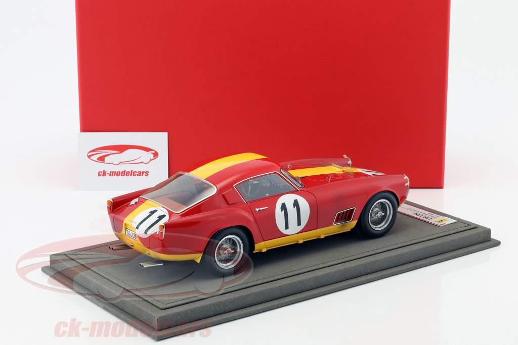 Ferrari 250 TDF #11 vincitore di classe 24h LeMans 1959 Dirty Version con vetrina 1:18 BBR