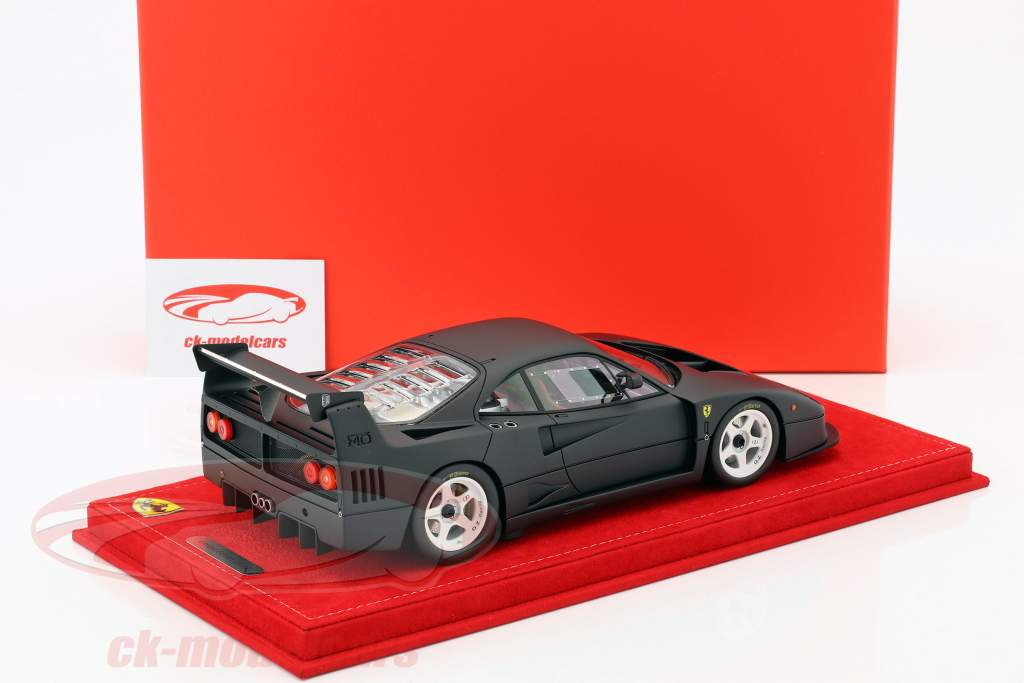 Ferrari F40 LM tappetino nero 1:18 BBR