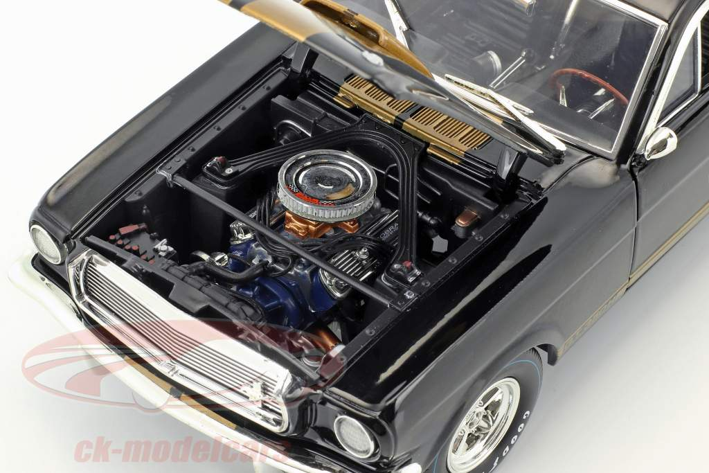 Ford Mustang Shelby GT 350H year 1966 black / gold 1:18 ShelbyCollectibles