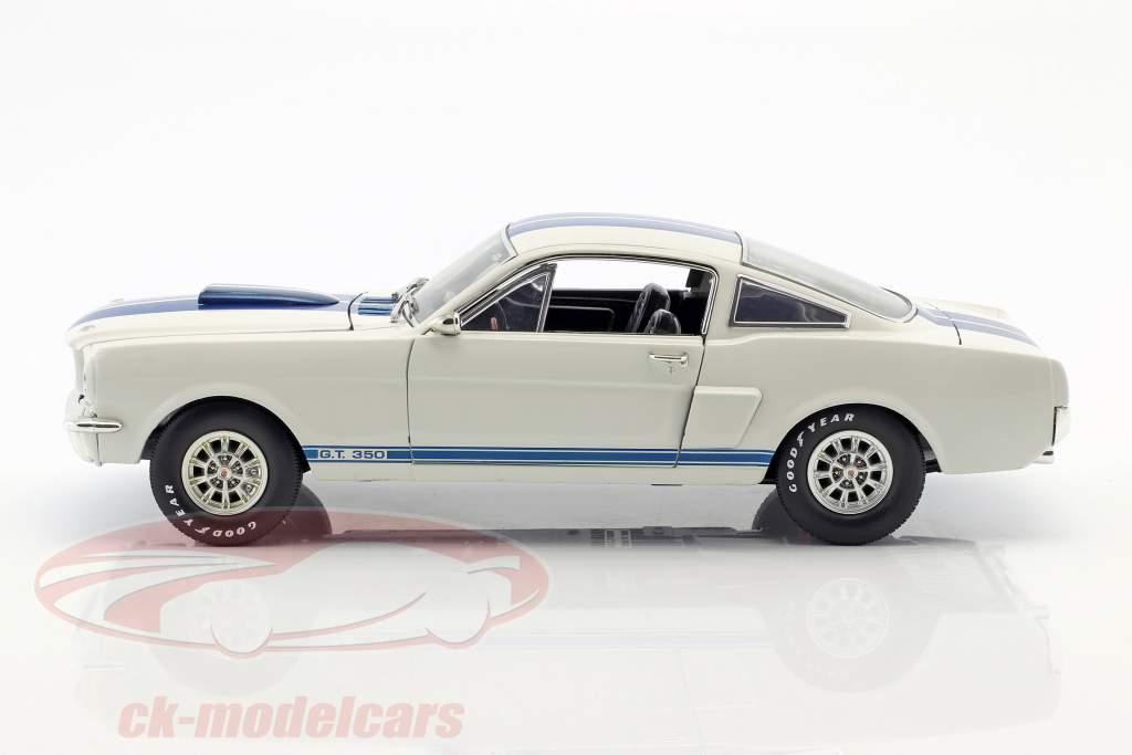 Ford Mustang Shelby GT 350 année de construction 1966 blanc / bleu 1:18 ShelbyCollectibles