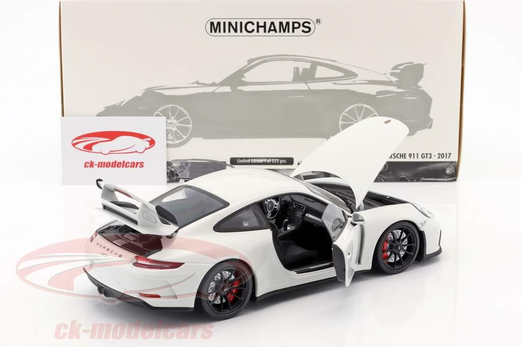 Porsche 911 (991 II) GT3 anno di costruzione 2017 bianco 1:18 Minichamps