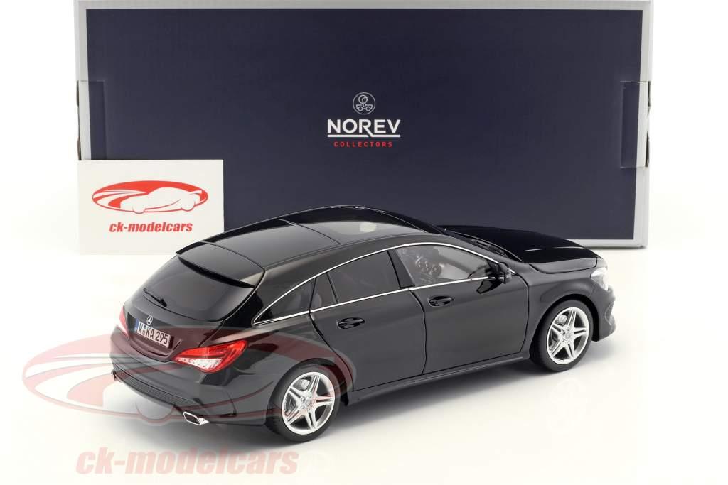 Mercedes-Benz CLA-Class (X117) Shooting Brake Construction year 2015 black 1:18 Norev