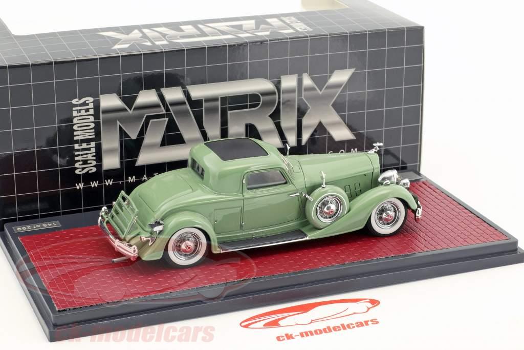 Packard 1108 Twelve Stationary Coupe Dietrich year 1934 green 1:43 Matrix