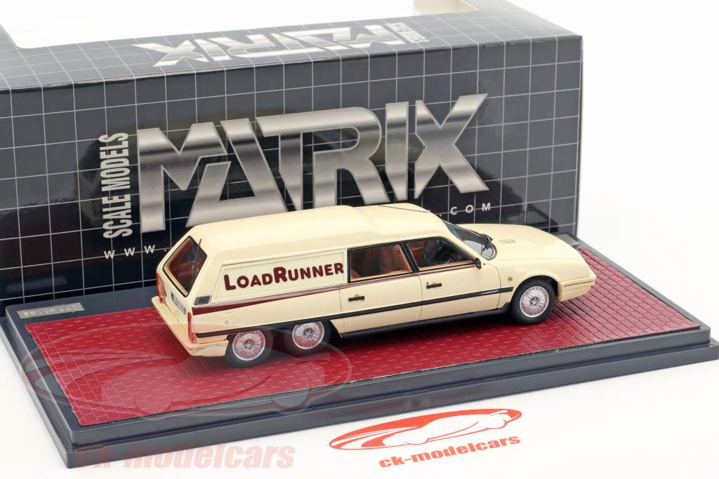 Citroen CX Break Loadrunner anno 1989 beige 1:43 Matrix