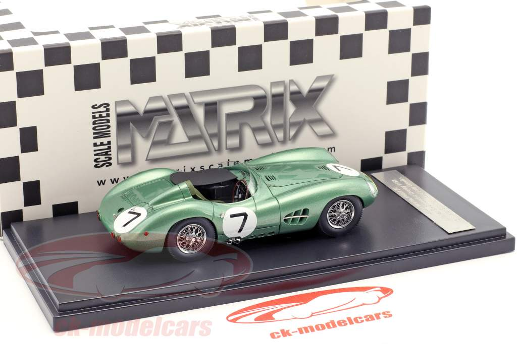 Aston Martin DBR1 #7 vincitore RAC Tourist Trophy 1958 Moss, Brooks 1:43 Matrix