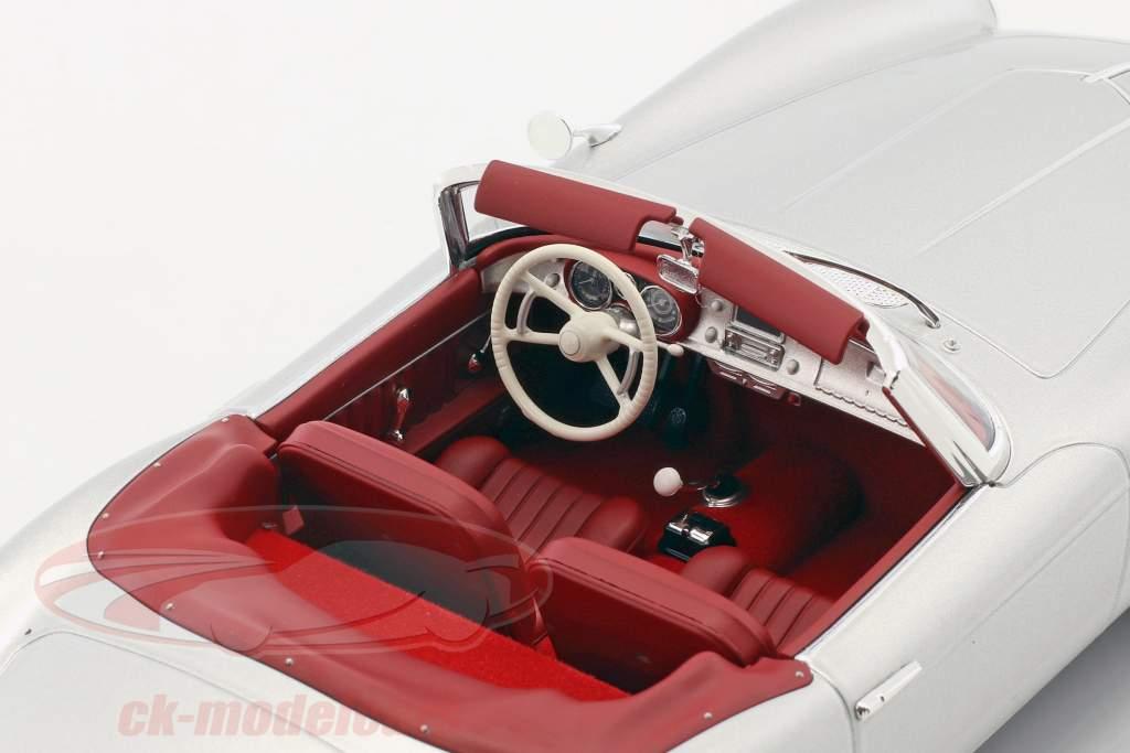 BMW 507 Cabriolet year 1956 silver metallic 1:18 Norev