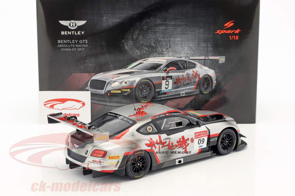 Bentley Continental GT3 #09 China GT Championship 2017 Geng, Imperatori 1:18 Spark