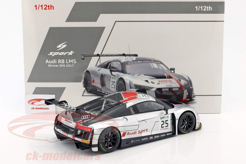 Audi R8 LMS #25 Winner 24h Spa 2017 Gounon, Winkelhock, Haase 1:12 Spark