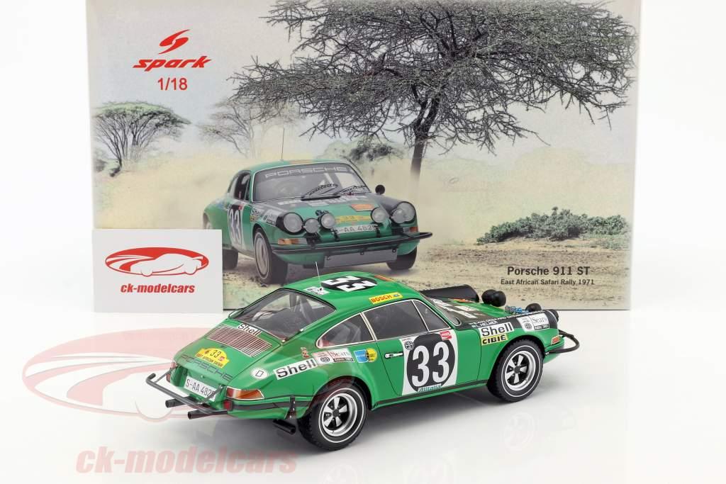 Porsche 911 ST #33 Rallye Africa orientale safari 1971 Waldegard, Lars 1:18 Spark