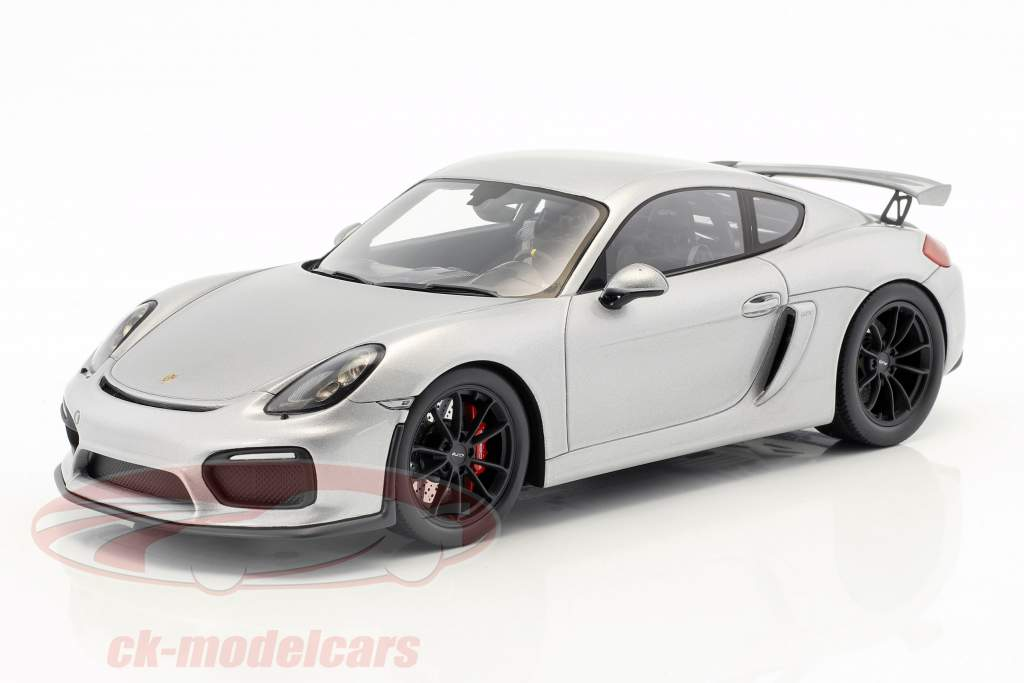 Porsche 981 Cayman GT4 anno di costruzione 2016 argento 1:18 Spark