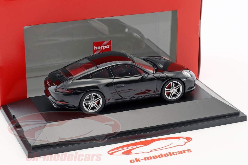 Porsche 911 (991 II) Carrera Coupe schwarz 1:43 Herpa