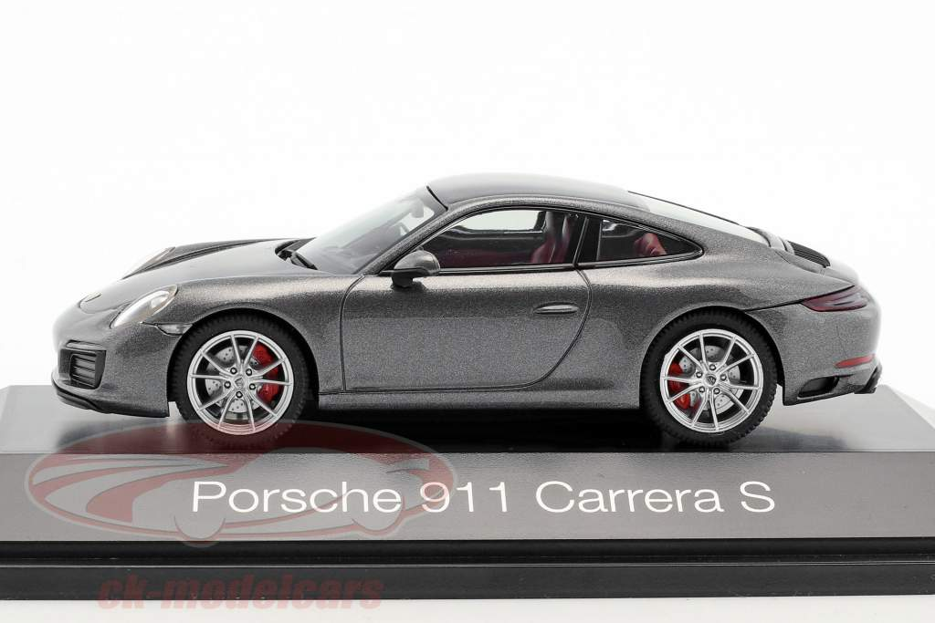 Porsche 911 (991 II) Carrera S coupé agate gris métallique 1:43 Herpa