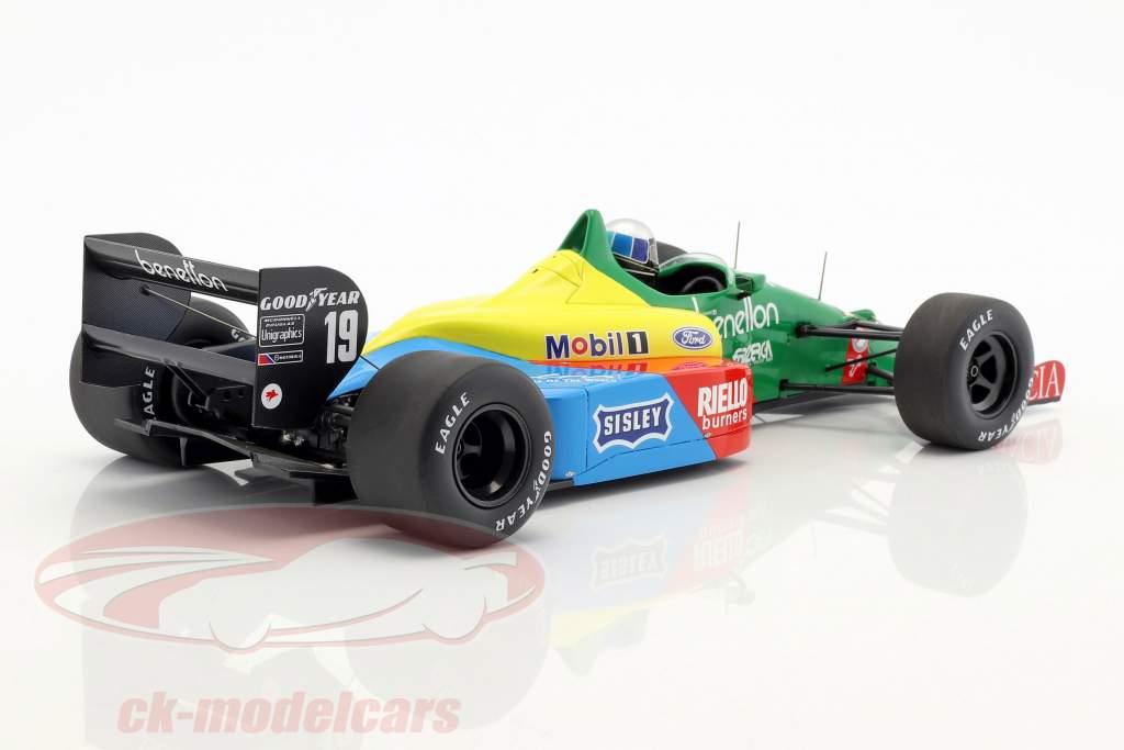 Alessandro Nannini Benetton B188 #19 3rd Great Britain GP formula 1 1988 1:18 Spark