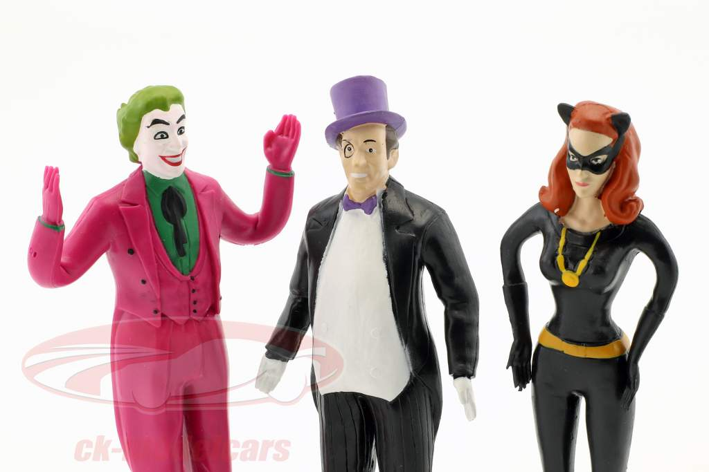 Batman biegbare Figuren Set Classic TV Serie Batman (1966) 5,5 inch NJCroce