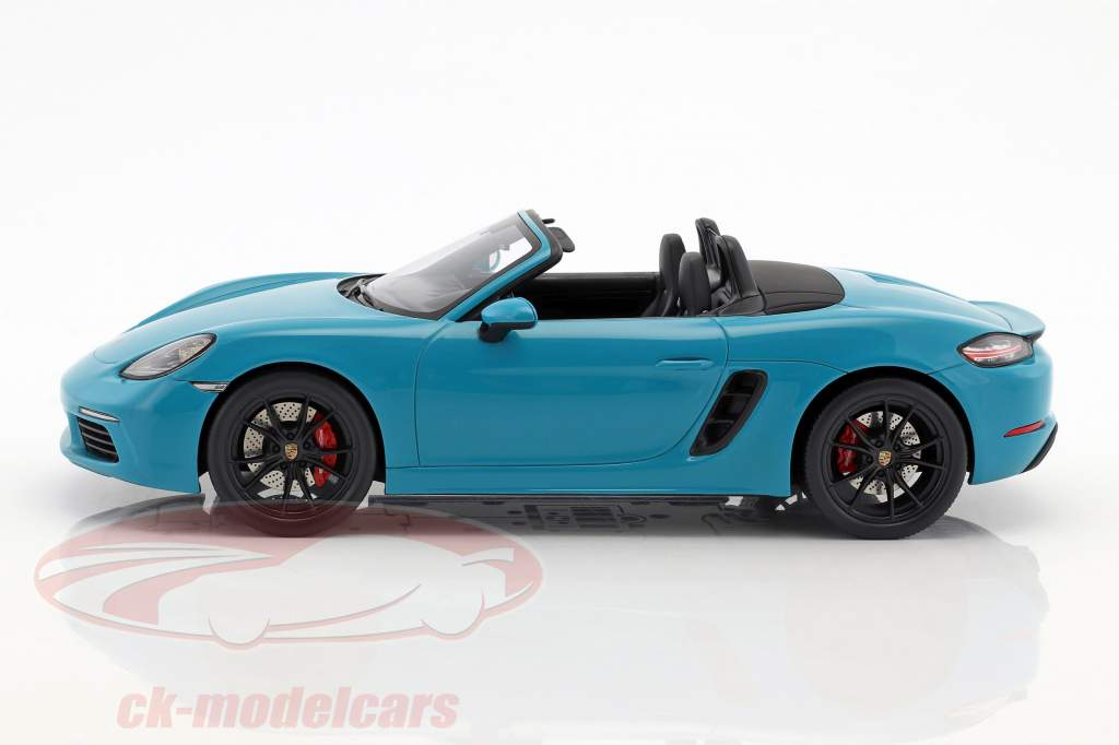 Porsche 718 Boxster S année de construction 2017 Miami bleu 1:18 Spark