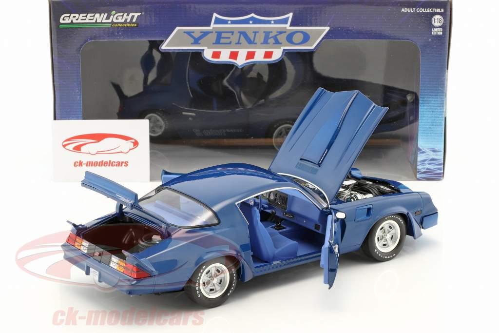 Chevrolet Z/28 Yenko Turbo Z year 1981 blue 1:18 Greenlight