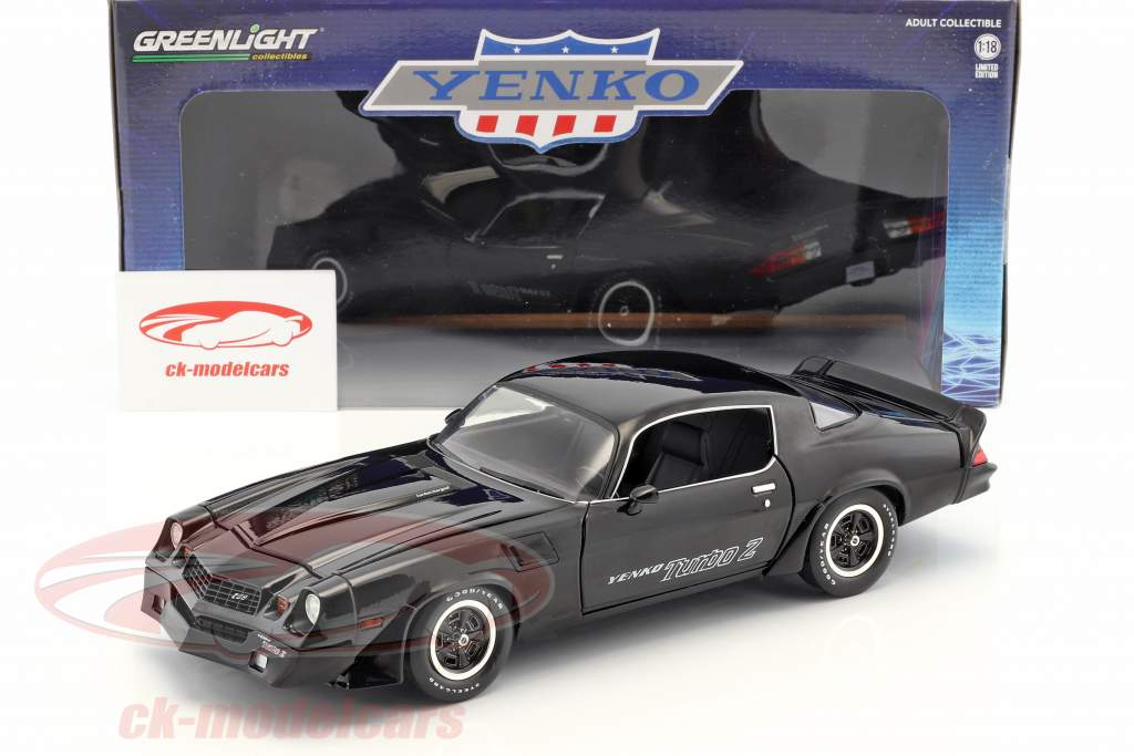 Chevrolet Z/28 Yenko Turbo Z year 1981 black 1:18 Greenlight