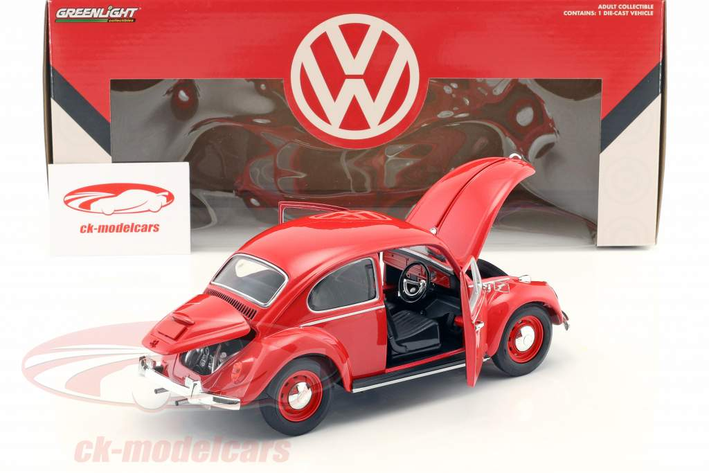 Volkswagen VW Beetle RHD Construction year 1967 red 1:18 Greenlight