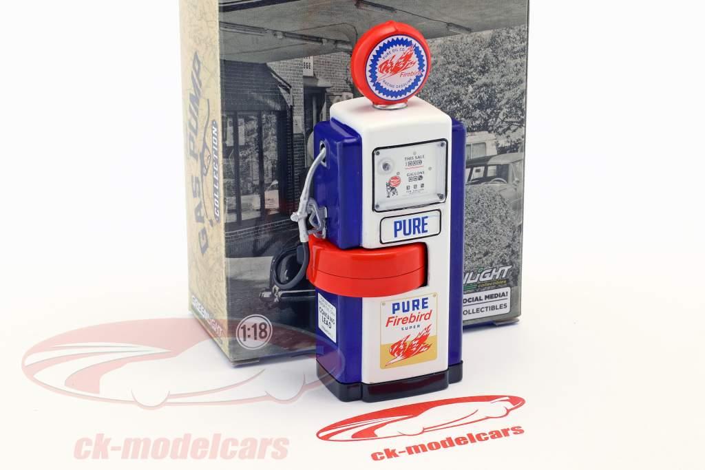Wayne 100-A Pure Firebird gas pompa 1948 blu / bianco / rosso 1:18 Greenlight
