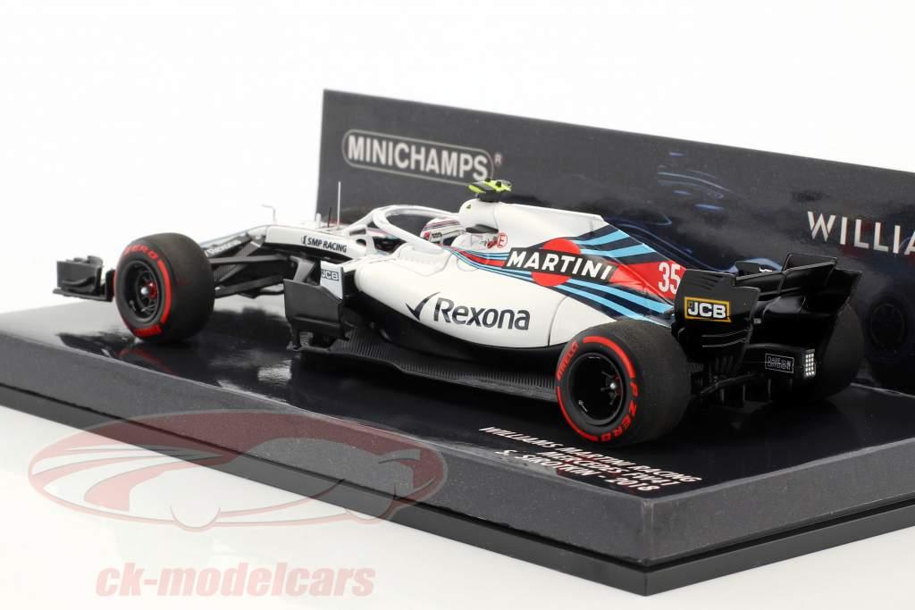 Sergei Sirotkin Williams FW41 #35 formula 1 2018 1:43 Minichamps