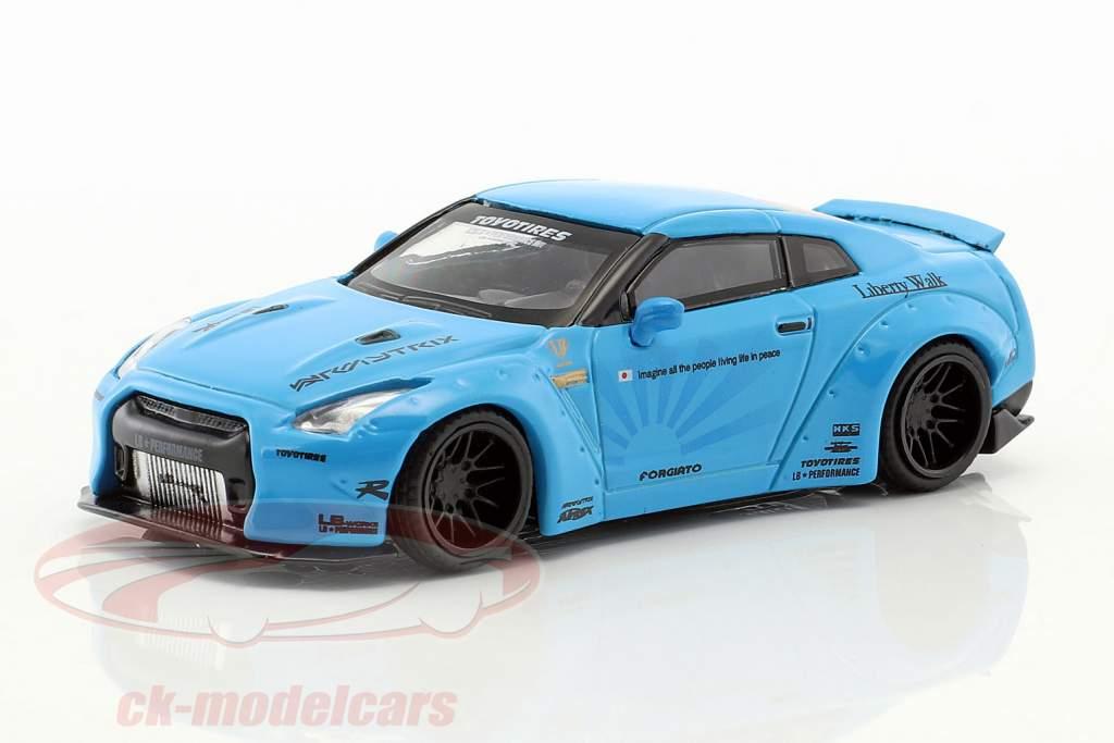 LB Works Nissan GT-R (R35) hellblau 1:64 TrueScale