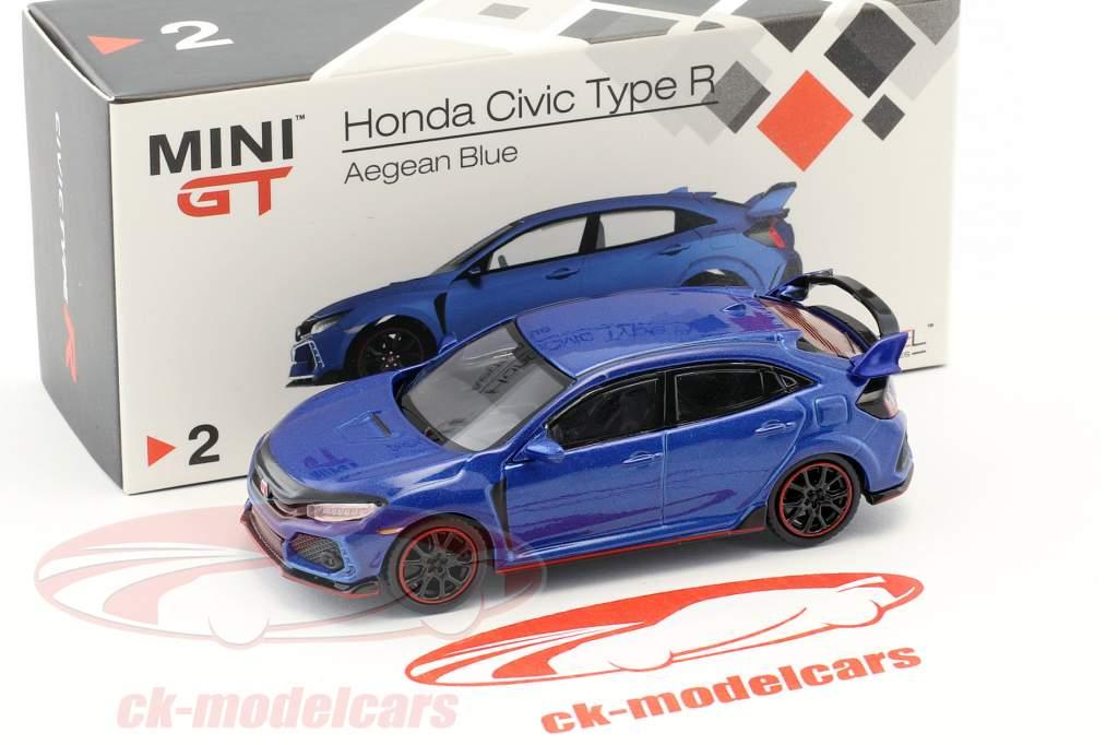 Honda Civic Type R aegean blue 1:64 TrueScale