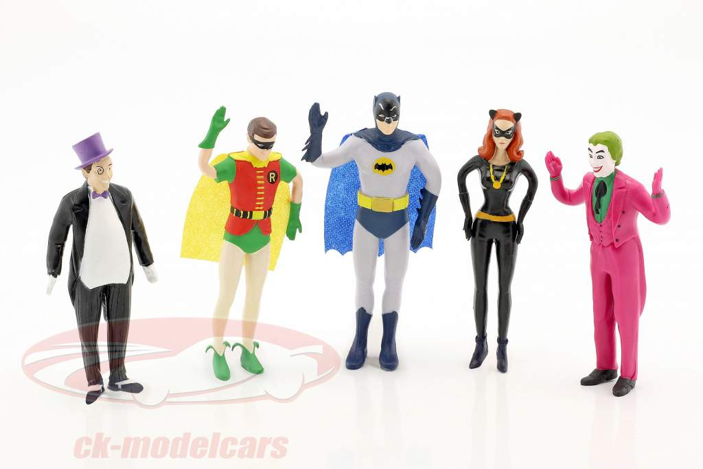 Batman bendable characters set Classic TV Serie Batman (1966) 5,5 inch NJCroce