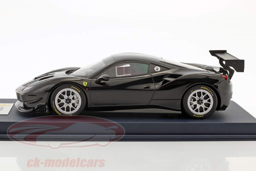 Ferrari 488 Challenge black with showcase 1:18 LookSmart