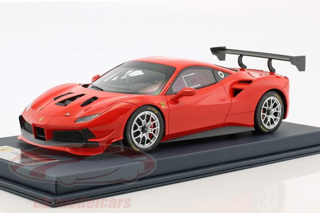 Ferrari 488 Challenge scuderia rosso con vetrina 1:18 LookSmart