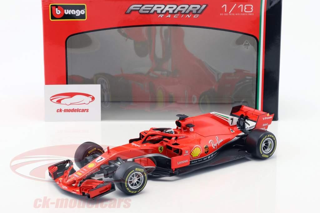 Kimi Räikkönen Ferrari SF71H #7 formula 1 2018 1:18 Bburago