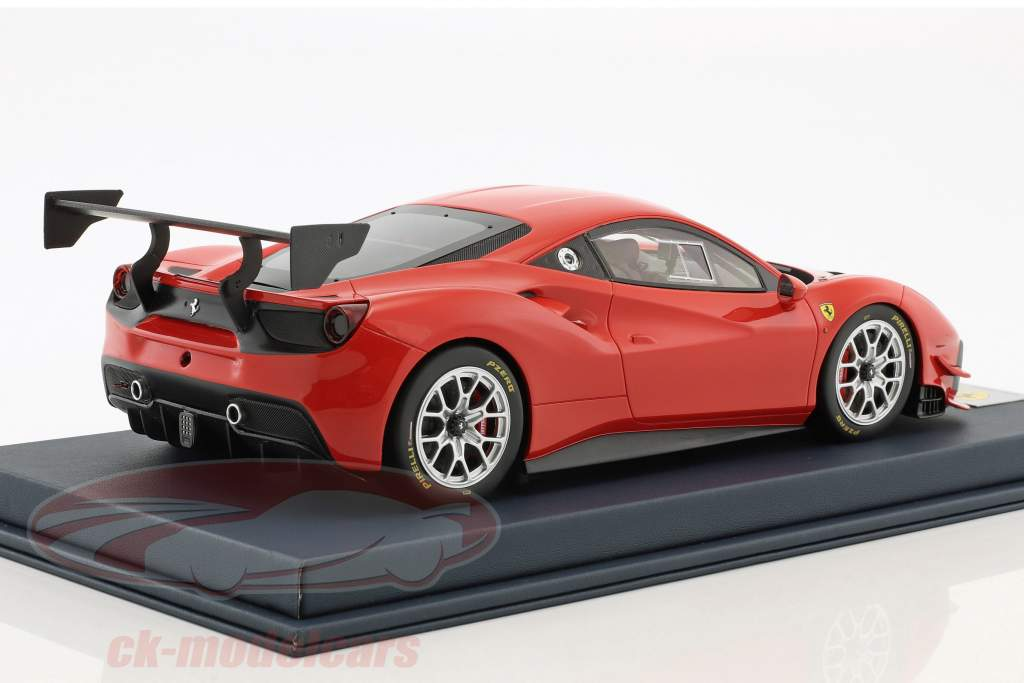 Ferrari 488 Challenge corsa red With Showcase 1:18 LookSmart