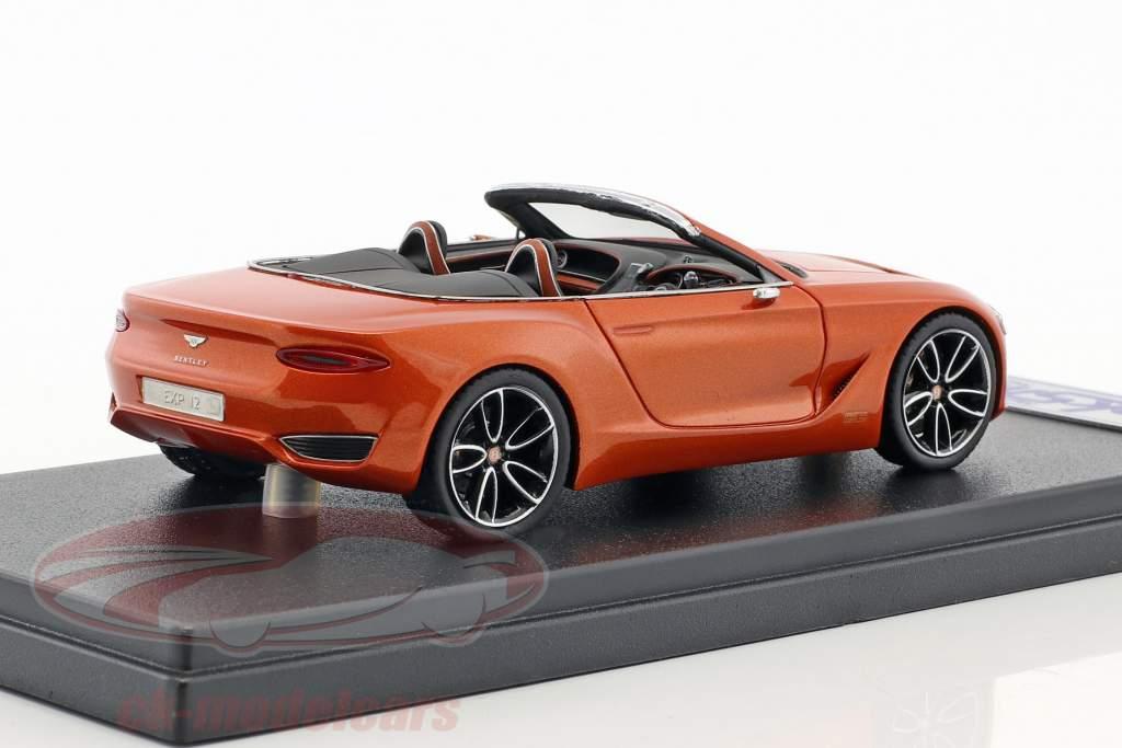 Bentley Exp 12 Speed 6e Concept Car 2017 arancione metallico 1:43 LookSmart