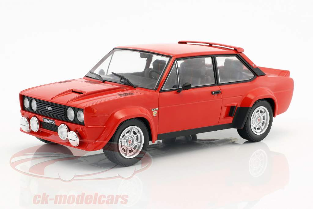 Fiat 131 Abarth year 1980 red 1:18 Ixo