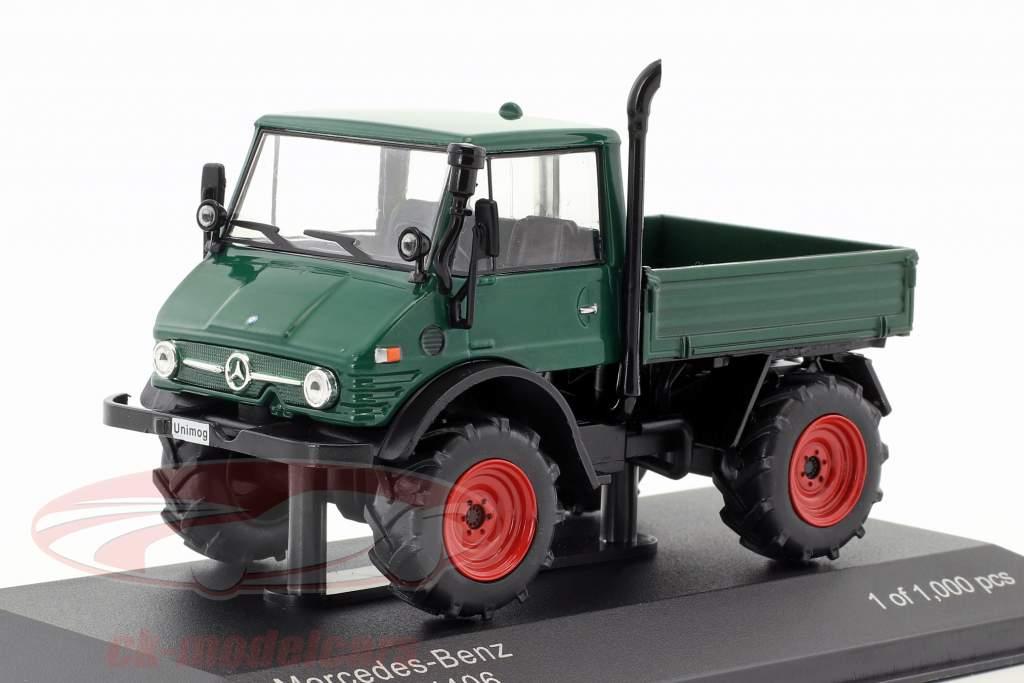 Mercedes-Benz Unimog U406 vert foncé 1:43 WhiteBox