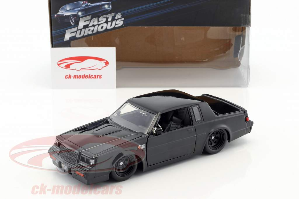 Dom's Buick Grand National year 1987 Movie Fast & Furious (2009) black 1:24 Jada Toys
