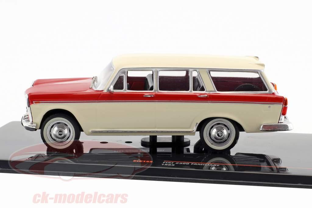 Fiat 2300 Familiare year 1965 beige / red 1:43 Ixo