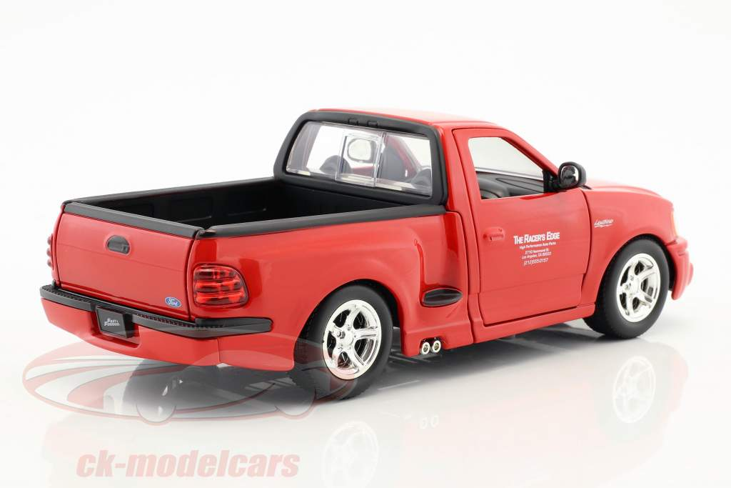 Brian's Ford F-150 SVT Lightning Movie The Fast & The Furious (2001) red 1:24 JadaToys
