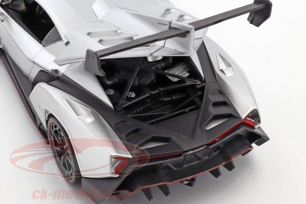 Lamborghini Veneno année de construction 2017 candy argent 1:24 Jada Toys