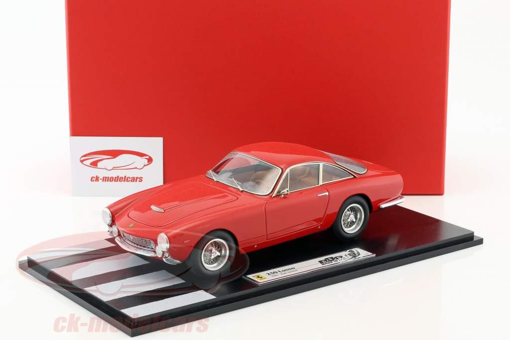 Ferrari 250 Lusso Rain version year 1963 red With Showcase 1:18 BBR