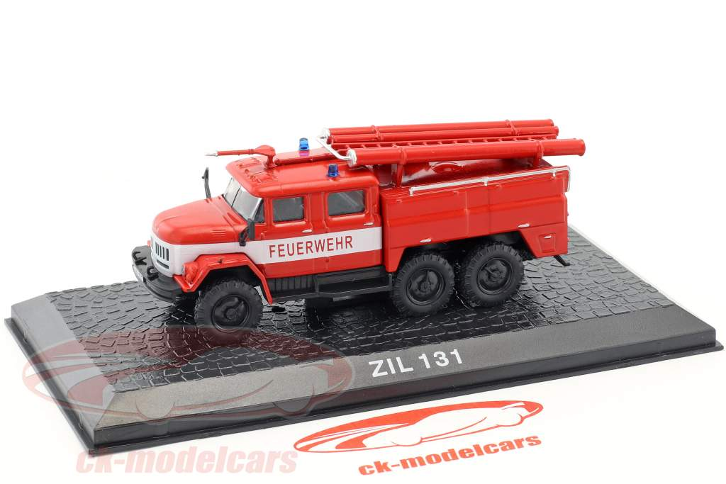 ZIL 131 pompiers rouge 1:72 Altaya