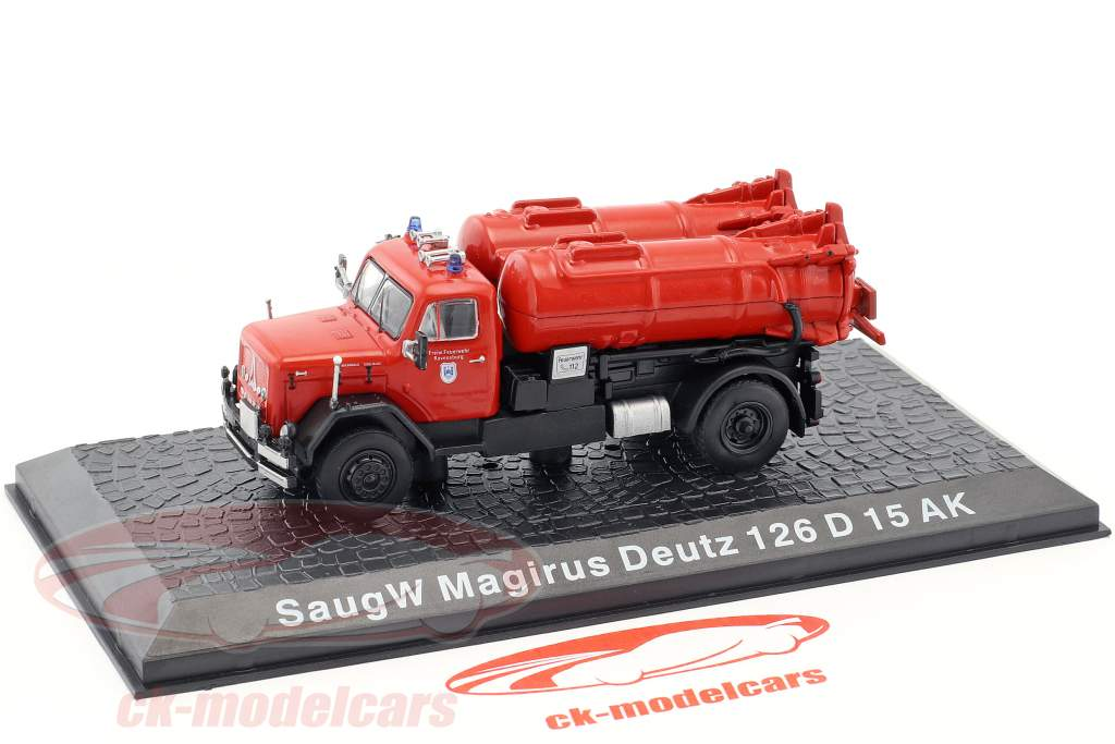 Magirus Deutz 126 D15 AK SaugW pompiers Regensburg rouge 1:72 Altaya